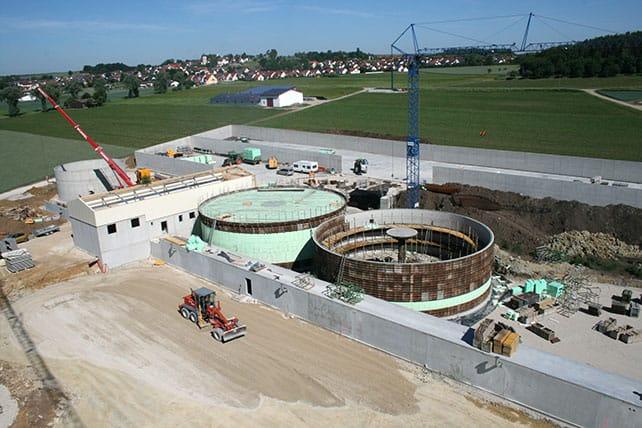 Biogasanlagen Baustelle